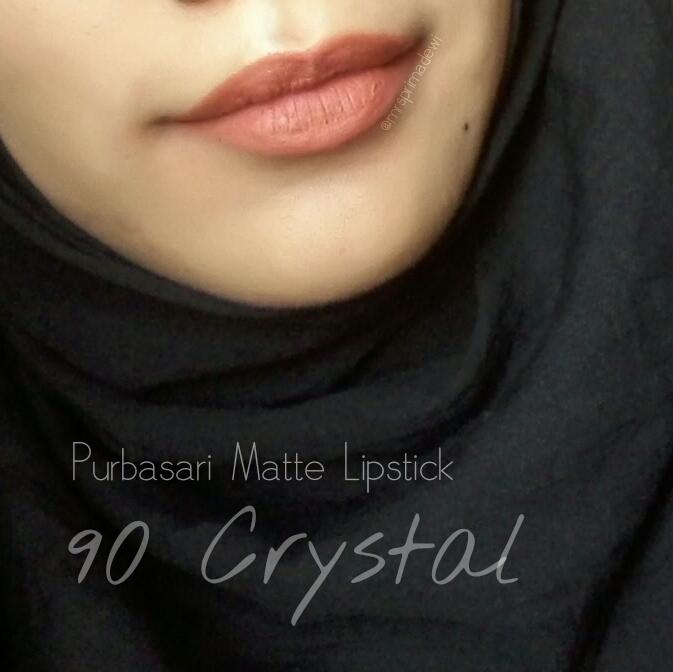Swatch Lipstik Matte Lokal : Purbasari, Sariayu, Wardah